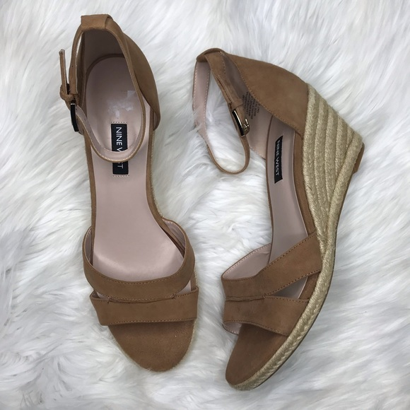 85a9ae913f5 Nine West Jabrina Espadrille Ankle Strap Wedges